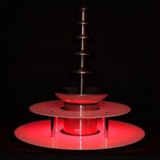 Podświetlany dwupoziomowy podest do fontanny czekoladowej<br />model: 120060001<br />producent: Soda Pluss