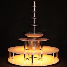Podświetlany trzypoziomowy podest do fontanny czekoladowej<br />model: 120060002<br />producent: cookPRO