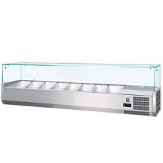 Nadstawka chłodnicza z szybą prostą 5 x GN 1/4<br />model: 070030001<br />producent: Soda Pluss