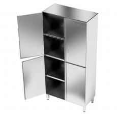 Szafa nierdzewna magazynowa dwudzielna<br />model: E3045/900/700/1800-W<br />producent: M&M Gastro