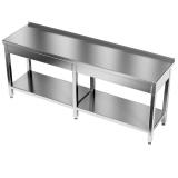 Stół roboczy nierdzewny z półką E1041