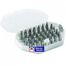 Komplet stalowych małych koncówek dekoracyjnych<br />model: 240020002<br />producent: Thermo Hauser