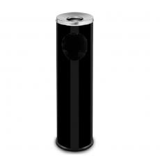 Kosz na śmieci z popielnicą czarny<br />model: 068213<br />producent: Stalgast