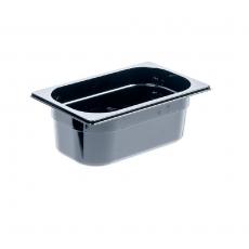 Pojemnik GN 1/4  gł. 10 cm z czarnego poliwęglanu<br />model: 154101<br />producent: Stalgast