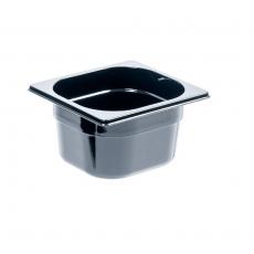 Pojemnik GN 1/6 gł. 10 cm z czarnego poliwęglanu<br />model: 156101<br />producent: Stalgast