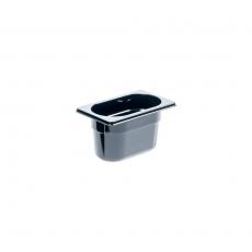 Pojemnik GN 1/9  gł. 10 cm z czarnego poliwęglanu<br />model: 159101<br />producent: Stalgast