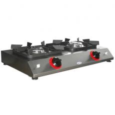 Taboret gastronomiczny gazowy 2-palnikowy | EGAZ KG-42<br />model: KG-42/W<br />producent: Egaz