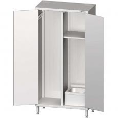 Szafa nierdzewna porządkowa z umywalką<br />model: 981475100/W<br />producent: Stalgast