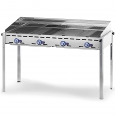 Grill gazowy Green Fire Profi Line 4-palnikowy<br />model: 149607<br />producent: Hendi