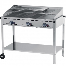 Grill gazowy Green Fire Kitchen Line 3-palnikowy<br />model: 149591<br />producent: Hendi