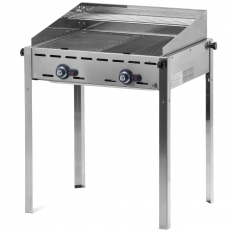 Grill gazowy Green Fire Profi Line 2-palnikowy<br />model: 149508<br />producent: Hendi