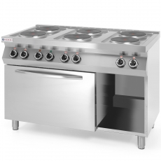 Kuchnia gastronomiczna elektryczna 6-płytowa z piekarnikiem<br />model: 226247<br />producent: Hendi