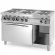 Kuchnia gastronomiczna elektryczna 6-płytowa z piekarnikiem 226247