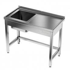Stół nierdzewny ze zlewem 1-komorowym<br />model: E2030/1600/700<br />producent: M&M Gastro