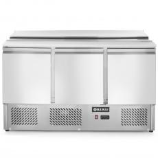 Stół chłodniczy sałatkowy 3-drzwiowy z pokrywą<br />model: 232811<br />producent: Hendi