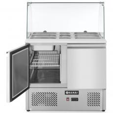 Stół chłodniczy 2-drzwiowy z nadstawą szklaną<br />model: 232781<br />producent: Hendi