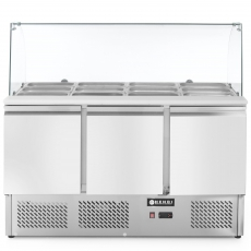 Stół chłodniczy 3-drzwiowy z nadstawą szklaną<br />model: 232798<br />producent: Hendi