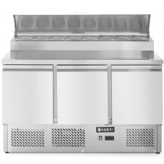 Stół chłodniczy 3-drzwiowy z nadstawą<br />model: 232897<br />producent: Hendi