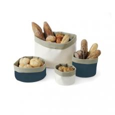 Koszyk na pieczywo z bawełny okrągły ciemnoniebieski<br />model: 429051<br />producent: Hendi