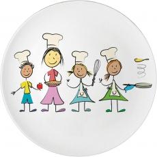 Talerz porcelanowy przedszkolny<br />model: 395954<br />producent: Stalgast