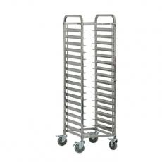 Wózek nierdzewny składany do tac i pojemników GN<br />model: 662111/W<br />producent: Stalgast