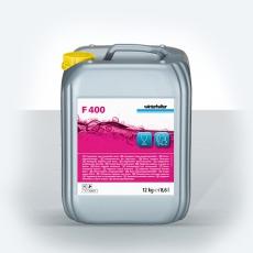 Płyn uniwersalny do mycia szkła i naczyń bistro Winterhalter F400 12 kg<br />model: F400<br />producent: Winterhalter