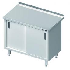 Stół roboczy nierdzewny z szafką<br />model: 616126<br />producent: Stalgast