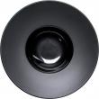 Talerz głęboki gładki porcelanowy czarny  - 396103