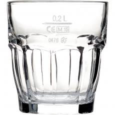 Szklanka niska do napojów 200 ml - z cechą<br />model: 400541<br />producent: Bormioli Rocco