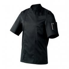 Bluza kucharska Nero czarna krótki rękaw XL<br />model: U-NE-BTS-XL<br />producent: Robur