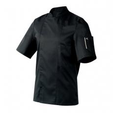Bluza kucharska Nero czarna krótki rękaw XXL<br />model: U-NE-BTS-XXL<br />producent: Robur