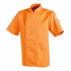 Bluza kucharska Nero pomarańczowa krótki rękaw XL<br />model: U-NE-OTS-XL<br />producent: Robur