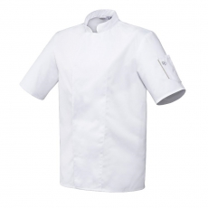 Bluza kucharska Nero biała krótki rękaw XL<br />model: U-NE-WTS-XL<br />producent: Robur