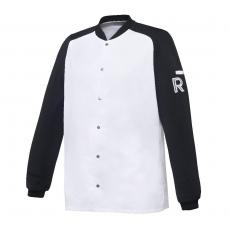 Bluza kucharska Vintage biało-czarna długi rękaw S<br />model: U-VT-BLS-S<br />producent: Robur