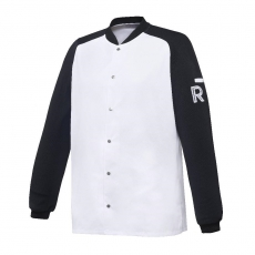 Bluza kucharska Vintage biało-czarna długi rękaw M<br />model: U-VT-BLS-M<br />producent: Robur
