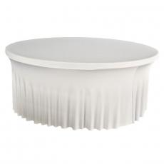 Pokrowiec z falbanką biały na stół okrągły 180 cm<br />model: BTO-F0180-W<br />producent: Verlo
