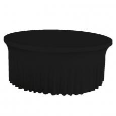 Pokrowiec z falbanką czarny na stół okrągły 180 cm<br />model: BTO-F0180-K<br />producent: Verlo