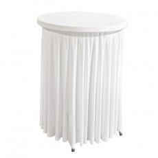 Pokrowiec z falbanką biały na stół koktajlowy 80 cm<br />model: BTO-FC80-W<br />producent: Verlo
