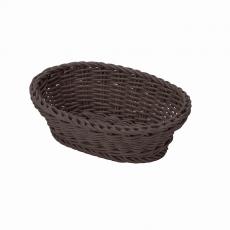 Koszyk owalny z poliratanu brązowy<br />model: T-2002-061<br />producent: Tom-Gast