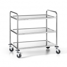 Wózek kelnerski nierdzewny 3-półkowy składany<br />model: FG01003<br />producent: Forgast