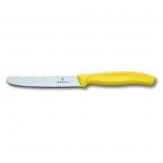 Nóż  barmański żółty z ząbkowanym ostrzem<br />model: VI-6-7836-L118<br />producent: Victorinox