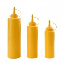 Dyspenser z miarką żółty<br />model: E-61970A<br />producent: Tom-Gast