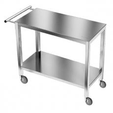 Wózek kelnerski nierdzewny 2-półkowy<br />model: E4010/1100/700<br />producent: M&M Gastro