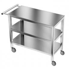 Wózek kelnerski nierdzewny 3-półkowy<br />model: E4020/800/500<br />producent: ProfiChef