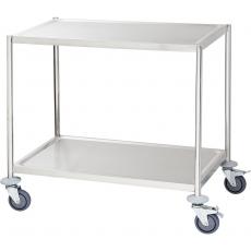 Wózek kelnerski nierdzewny 2-półkowy płaski bez rączek<br />model: 661040<br />producent: Stalgast