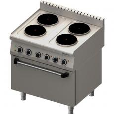 Kuchnia gastronomiczna elektryczna 4-płytowa z piekarnikiem<br />model: 971600<br />producent: Stalgast