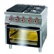 Kuchnia gastronomiczna gazowa z piekarnikiem el.   KROMET 700.KG-2/I-400/PE-2 - 700.KG-2/I-400/PE-2