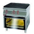 Kuchnia gastronomiczna gazowa z piekarnikiem el.   KROMET 700.KG/I-800/PE-2 - 700.KG/I-800/PE-2