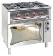 Kuchnia gastronomiczna gazowa 5-palnikowa z piekarnikiem / model - TG-5725/PKE-1