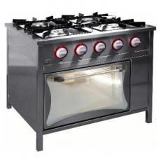 Kuchnia gastronomiczna gazowa 5-palnikowa z piekarnikiem gaz.   EGAZ TG-5728/PG-1<br />model: TG-5728/PG-1<br />producent: Egaz